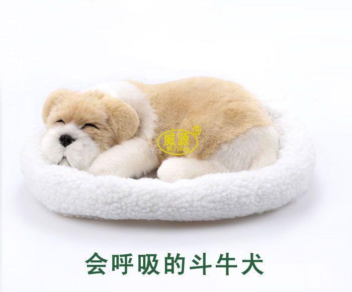 Pitbull Bull собака побаловать petz питомец помощник дыхание собаки милые игрушки спать животное emulational мини яркий игрушка Фигурки Миниатюры