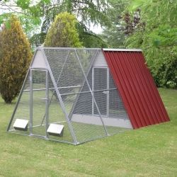 Fence in Mesh for Raised chicken coop