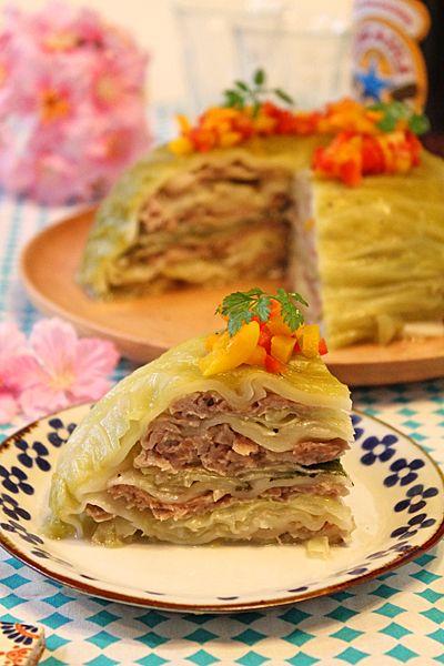 炊飯器で簡単☆春キャベツと豚バラの塩麹餃子ドーム - ぱおのおうちで世界ごはん☆