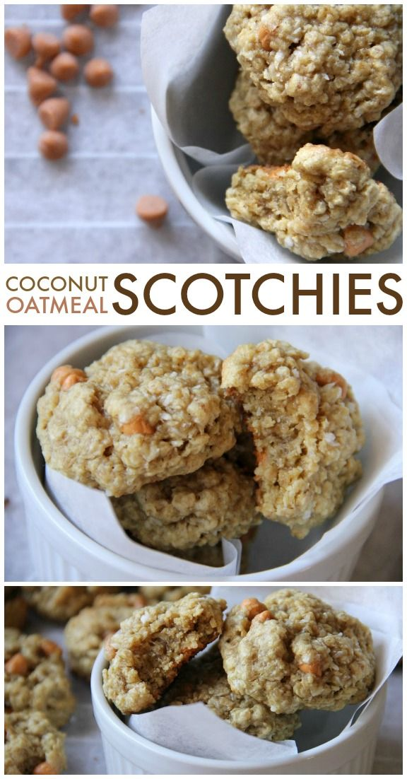 Coconut Oatmeal Scotchies are perfectly chewy yet soft, with chunks of ...