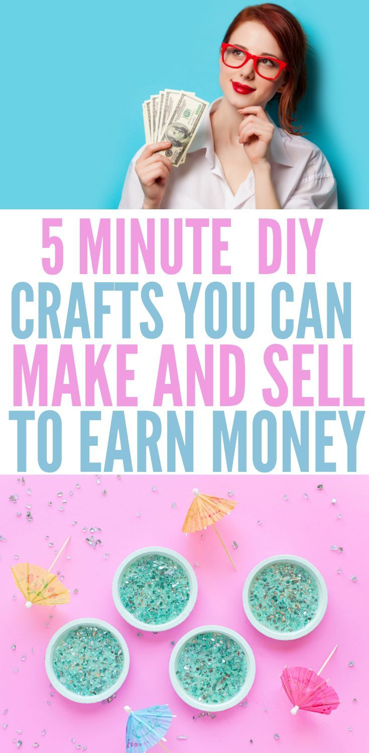 5 MINUTE DIY CRAFTS YOU CAN MAKE AND SELL TO EARN MONEY – #Crafts #DIY #EARN #mi… – Crafts