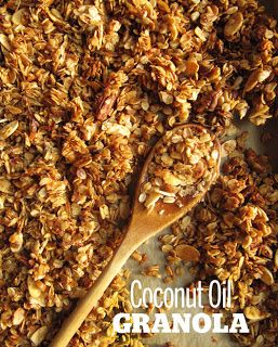 Cooking Pinterest: Coconut Oil Granola