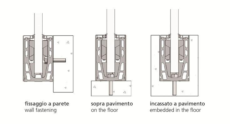 Componenti per parapetti in alluminio SIRIO F Collezione Sirio by Nuova Oxidal