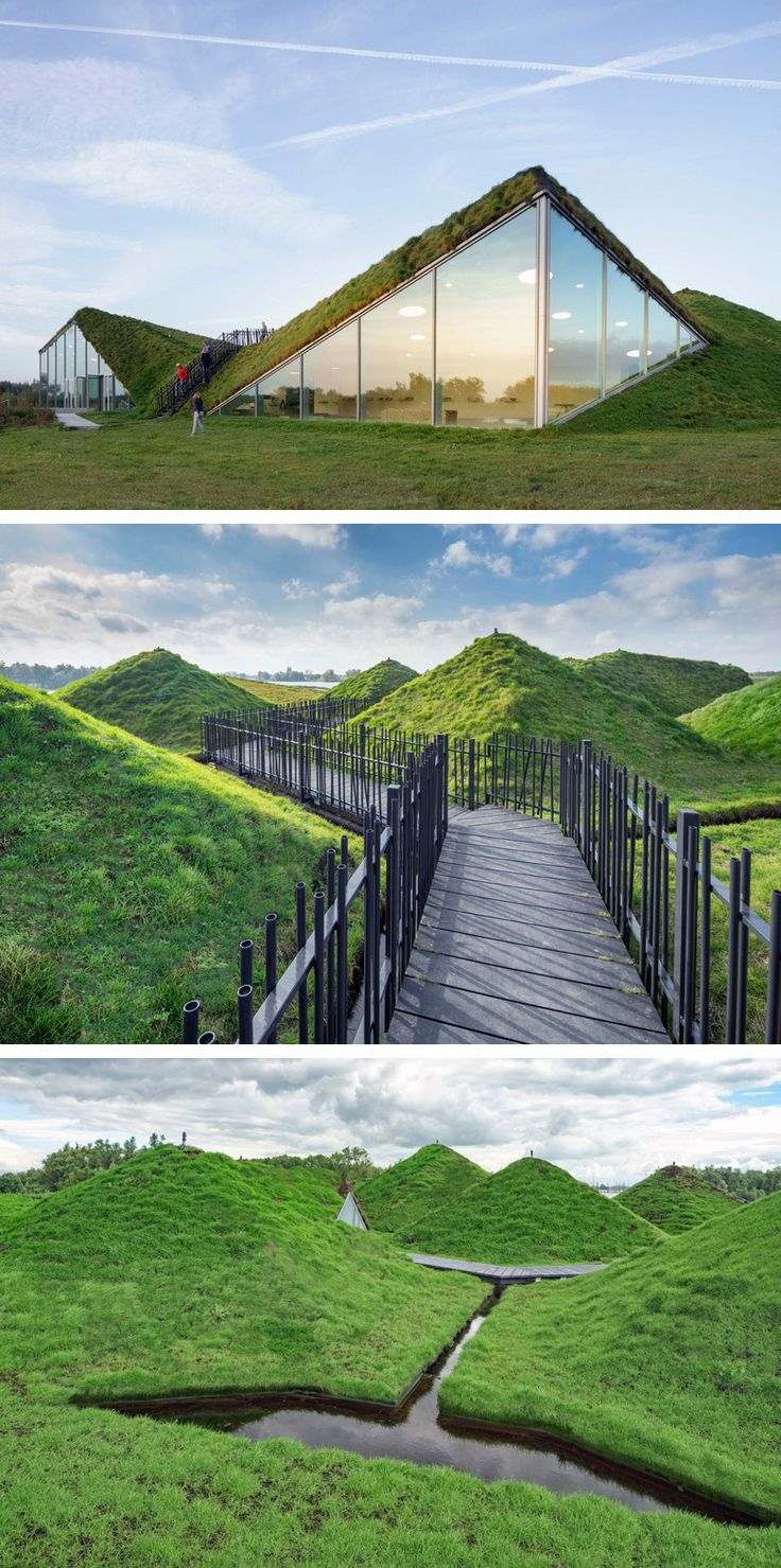 This Dutch museum is covered in grass and has a rooftop walkway #FredericClad