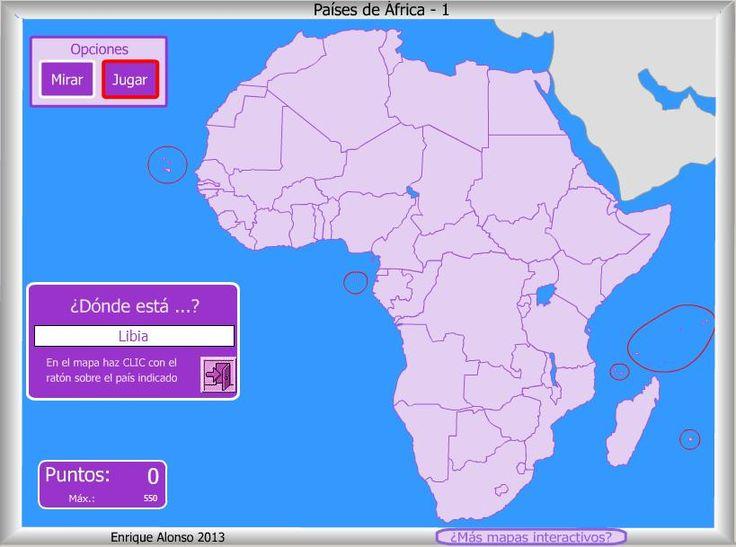 Mapa interactivo de África Países de África. ¿Dónde está? - Mapas Interactivos