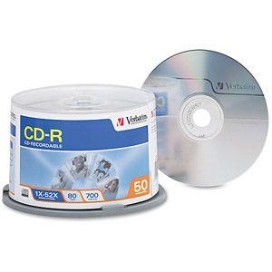 Verbatim 700MB 52X CD-R 50 Packs Cake Box Disc