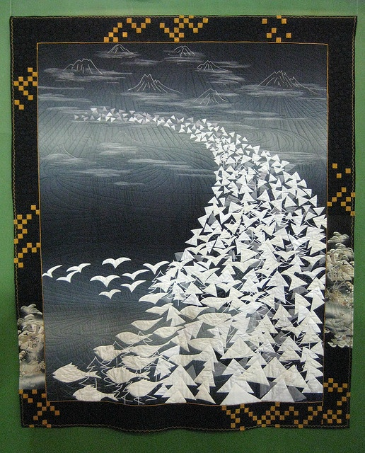 a japanese quilt, escher style -- Maybe I could learn to love art quilts, after all.