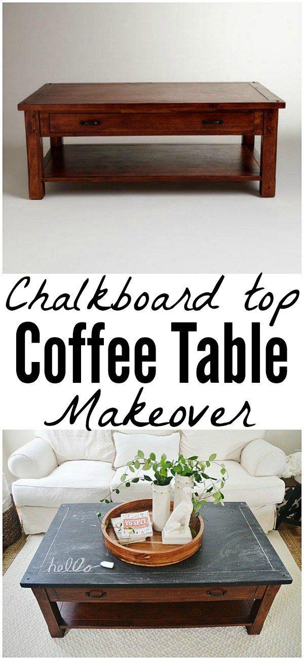 17 best ideas about chalkboard coffee tables on pinterest