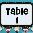 Print these cute table signs for your classroom! ...