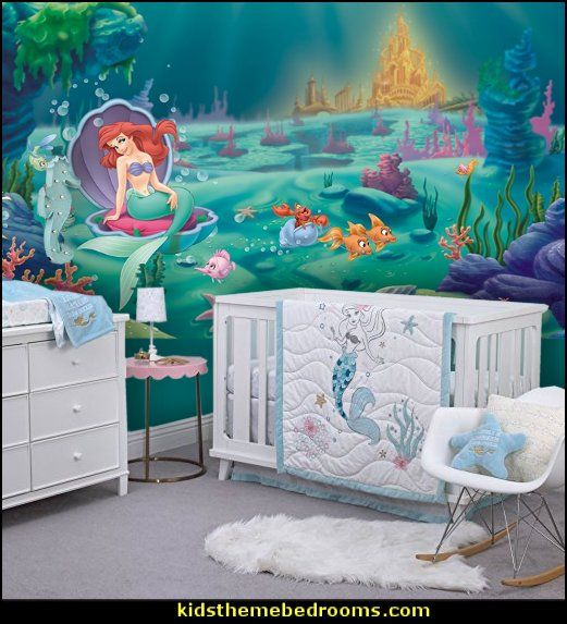 Disney Ariel Sea Princess Little Mermaid Ariel Theme Bedroom