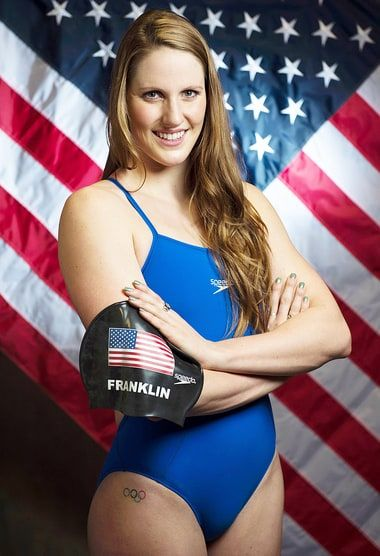 Olympic swimmer Missy Franklin, who will compete for Team USA at the Summer 2016…