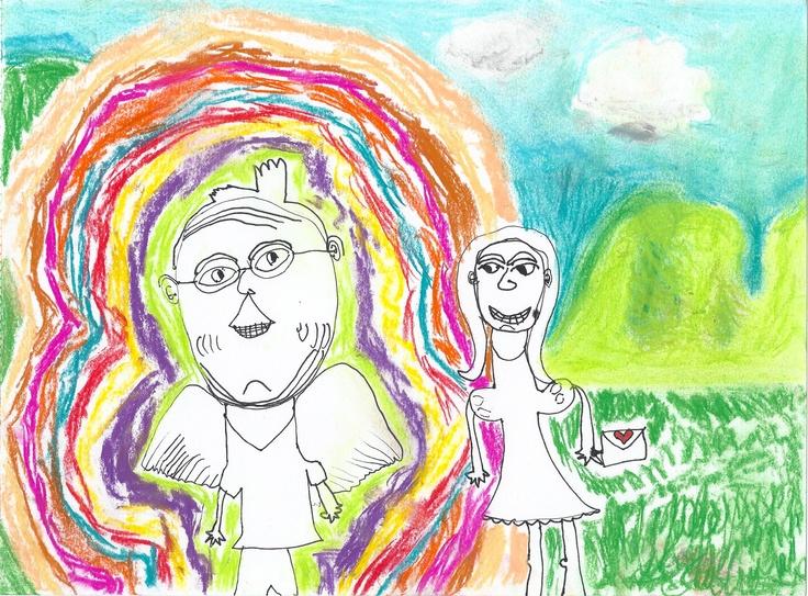 2011 Children's Visual Art Maya Hogan  Age 5  'Grandpa is alive in my Heart'