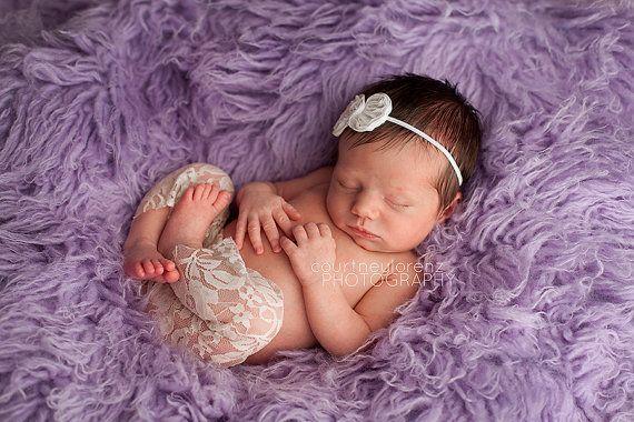 Newborn Lace Pant, Newborn Pants, Lace Pants, Bow Headband, Lace, Newborn Lace Clothing, Newborn Clothing, Photography Prop, Newborn Prop