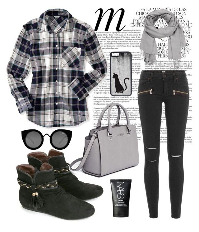 """""""Untitled #28"""" by lemizzle on Polyvore featuring Quay, NARS Cosmetics, Whiteley, maurices, Paige Denim, Aéropostale, MICHAEL Michael Kors and CellPowerCases"""