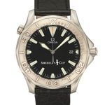 OMEGA, AMERICA'S cup limited edition SEAMASTER STEEL Omega, Seamaster Professional Chronometer, America's Cup limited edition No, 2393 / 9999, No. 60475921, Case No.1681617, Ref. 2236.50. Made circa 1990's. Fine, center seconds, self winding, water resistant to 300m/1000ft, steel diver's wristwatch with steel Omega deployant clasp.