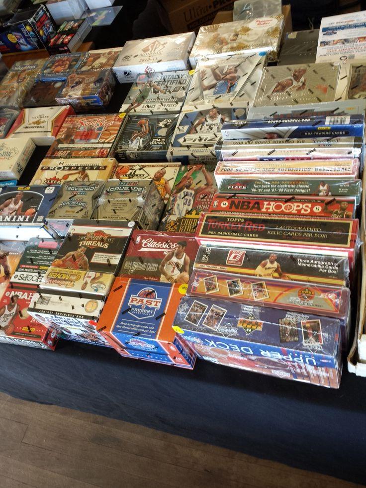 NBA trading card boxes
