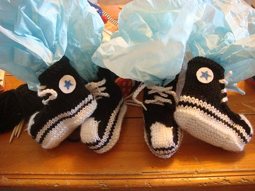 #Knitting pattern for Converse baby booties!