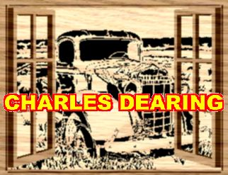An abandoned truck seen through open windows (Layered) from Scroll Saw Pattern designer Charles Dearing.
