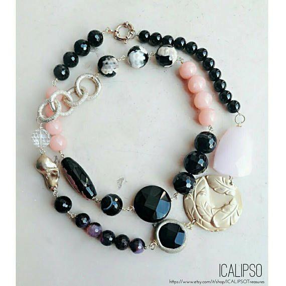 Guarda questo articolo nel mio negozio Etsy https://www.etsy.com/it/listing/484222165/rosa-gioielli-per-le-donne-collane