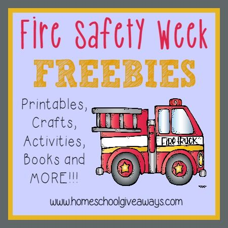 Teach kids all about Fire Safety with these {free} printables, craft ideas, books and MORE!! Fire Safety Week is Oct 5-11, 2014.