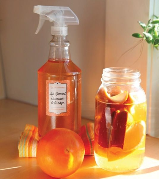 Make all-natural orange cinnamon cleaner - chemical-free and super cheap all-purpose cleaner that disinfects and deodorizes!