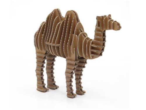 Crembo Design 3d Cardboard Puzzle Free Standing Camel New Eco Gift Kids Ebay Cart 243 N