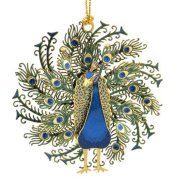 "ChemArt 2.5"" Collectible Keepsakes Peacock Christmas Ornament"