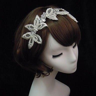 Elegant Lace With Pearl/Rhinestone Women's Headbands – USD $ 9.99