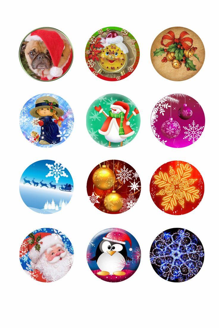 Christmas Tree Bottle Cap Ornament Template plus 73 new free Christmas images.   Digital Crafts Portal