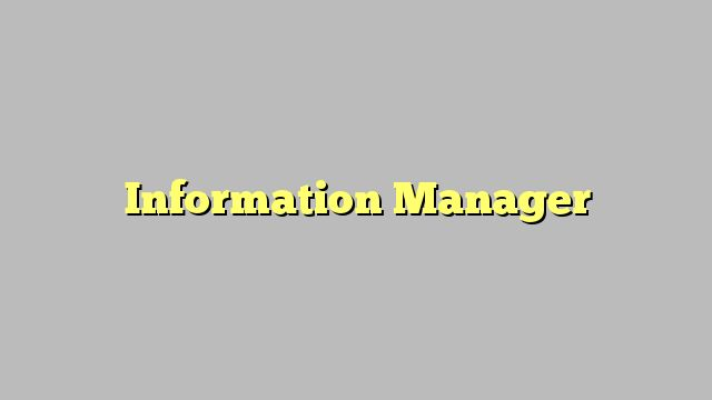 Information Manager