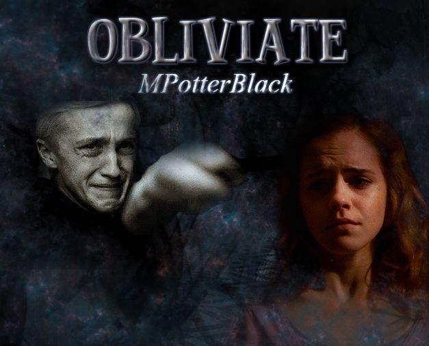Portada para Obliviate de MPotterBlack en Wattpad Hermione & Draco Dramione