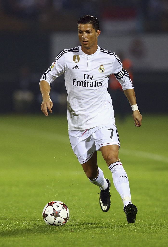 Cristiano Ronaldo of Real Madrid in action during the Dubai Football Challenge match between AC Milan and Real Madrid at The Sevens Stadium on December 30, 2014 in Dubai, United Arab Emirates.