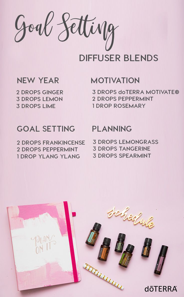 Try these new year diffuser blends as you set your goals for 2018!