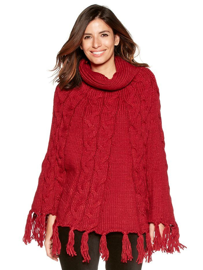 Cable Knit Poncho | Women's Wraps & Ponchos | M&Co