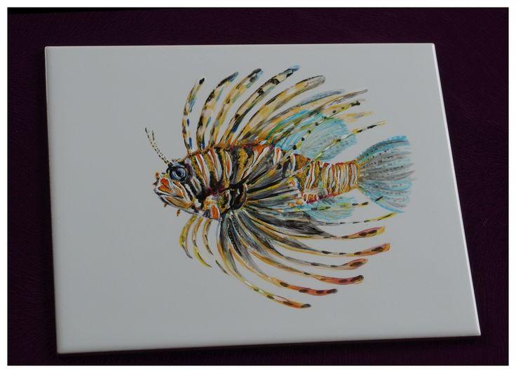 #handpainted #fish #tiling