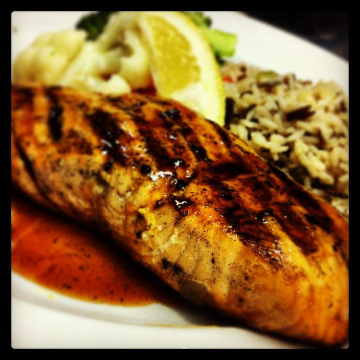Maple Glazed Atlantic Salmon = Deeelish!