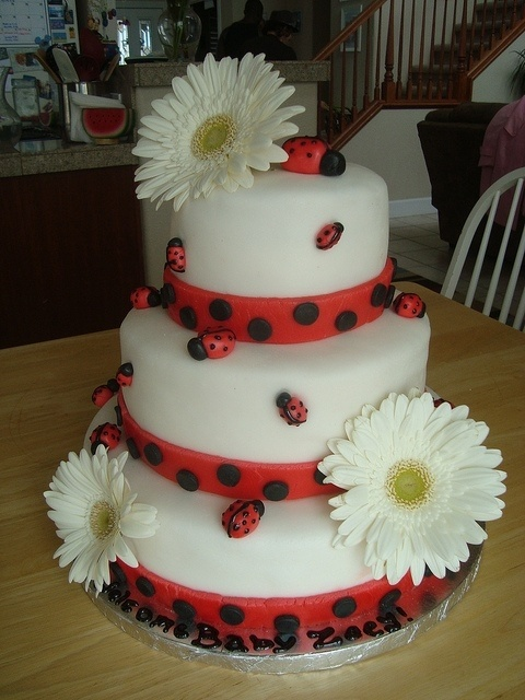 Lady Bug Cake by IMAKECAKES, via Flickr by lea