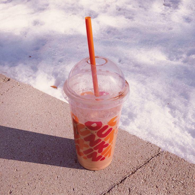 Dunkin Donuts Red Velvet Iced Latte in 2020 Iced latte