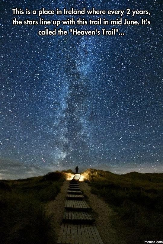 Heavens trail in Ireland