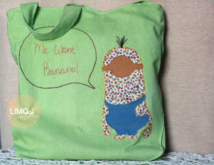 Minion | 85K | bahan: kain tenun ikat ATBM [alat tenun bukan mesin], katun, soft jeans, ero | check this limo-made.blogspot.com #handmade #totebag #limitededition #semarang #indonesia #limomade