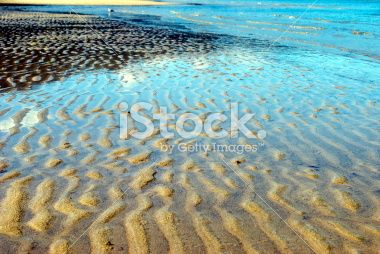 Ripples in Sand, Marahau, Abel Tasman National Park Royalty Free Stock Photo
