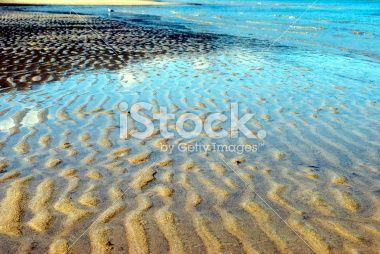 Ripples in Sand, Marahau, Abel Tasman National Park Royalty Free Stock Photo