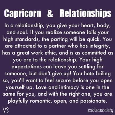 scorpio dating capricorn Scorpio dating capricorn would be a great team considering the fact that they would be blending intuition with logic.