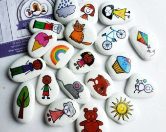 Storia generale pietre mix 1 di LittlebyNature su Etsy