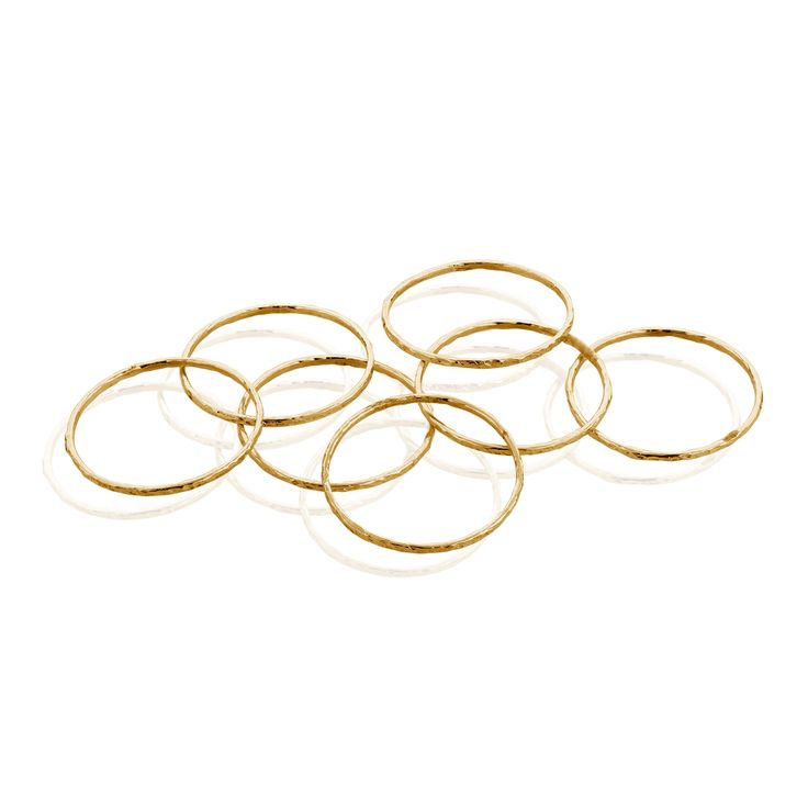 7 Day stack rings, a wish for everyday of the week. $110 gold plated sterling silver hand hammered.