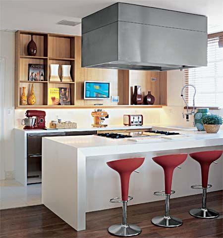 Cozinhas com ilha - Casa: Kitchens Decor, Decoration, For Kitchen, Por Cozinha, Cooking, House, Cozinha Aberta, Casa Nova, Cozinha Com Ilha Moderna Coifa