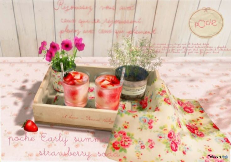 Early Summer Strawberry Soda Gift by poche - Teleport Hub - teleporthub.com