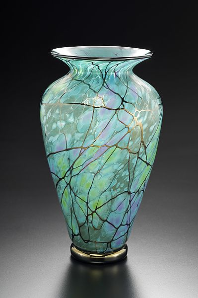 Serenity Vase by David Lindsay: Art Glass Vase available at www.artfulhome.com                                                                                                                                                                                 More