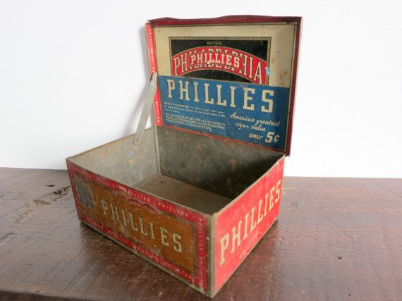 Five Cent Phillies Cigar Box by EastonandBelt on Etsy