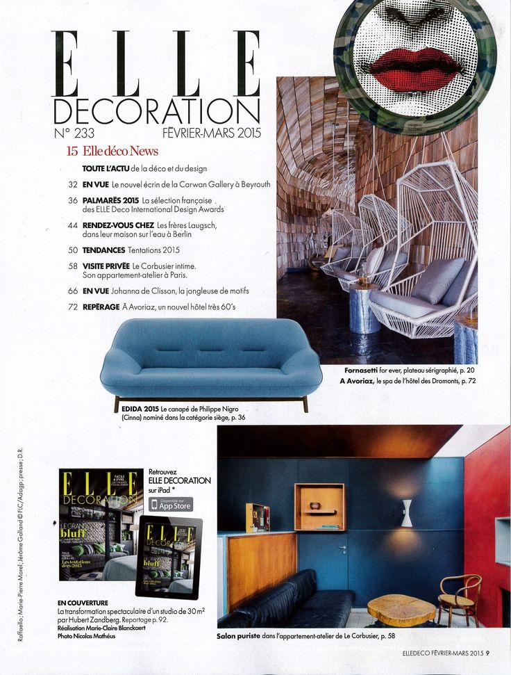 Nemos Lamps At Le Corbusiers Apartment In Paris Elle Decor France N With